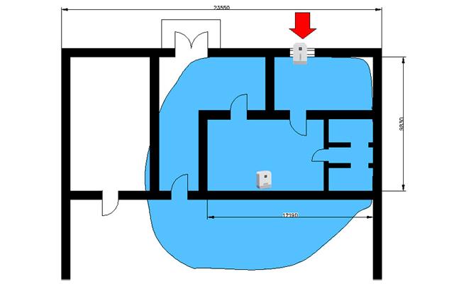 Для тестирования оборудования Cel-Fi RS2 было выбрано офисное помещение действующего офиса на окраине г. Москвы.